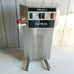 FETCO CBS 31Aap Commercial Single Automatic 2.2L Coffee Brewer Maker w Hot Water