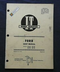 1979 Ford 8000 8600 8700 9000 9600 9700 Tractor I And T Service Shop Manual