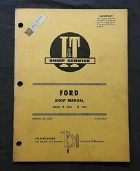 1971 Ford 8000 And 9000 Tractor I And T Repair Service Shop Manual Nice Shape
