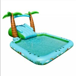 Members Mark Inflatable Novelty Dinosaur Pool With Slide Free Shipping Fast. New