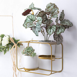Wall Planters For Indoor Plants Modern Design Wall Plant Holder With 2 Ceramic