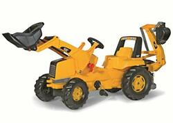 Rolly Toys Cat Construction Pedal Tractor Backhoe Loader Front Loader And Exc...