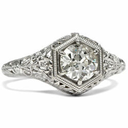 Old Cut Brilliant With 0,797 Ct In One Ungetragenen White Gold Ring, Um 1890/20