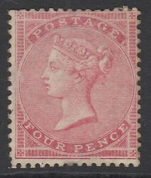 Sg 66 4d Rose-carmine. Mounted Mint, Good Colour And Well Centred For This Issue..