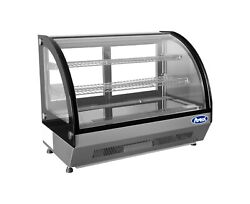 Refrigerated Curved Glass Display Case/ Cooler Merchandiser 3 Foot Wide Nsf