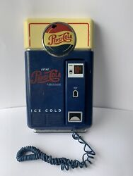 Vintage Pepsi Cola Vending Machine Wall Or Standing Table Top Telephone Read