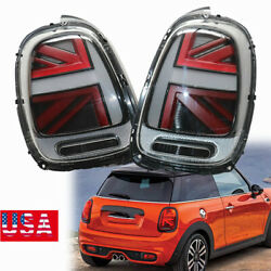 2taillights Assembly Smoke+red Lens Lamp For 2014-2018 Mini Cooper F55 F56 F57