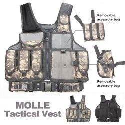 Adjustable Molle Tactical Vest Plate Carrier For Military Combat Outdoor Hunting