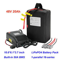48v 20ah Ebike Lifepo4 Battery Pack 48 Volt Electric Bicycle Scooter Batteries