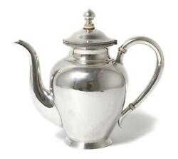 Silver Coffee Pot. Russian Empire Russia St. Petersburg Year 1886.
