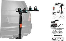 Universal Hitch Mounted Bike Carrier Rack For Car With 2 Receiver 2-bike