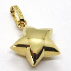 Yellow Gold Pendant 750 18k Star Pan Made In Italy