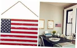 4th Of July Wooden Plaque Sign Decor Hanging Wall Art 5x10americana Ydlr-11
