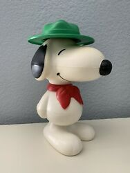 Used Peanuts Snoopy Scout Stacking Toy Hard Plastic 9quot;