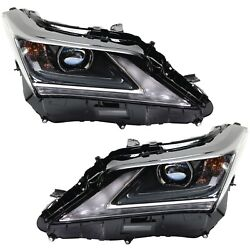 Headlight For 2016-2017 Lexus Rx350 Pair Driver And Passenger Side