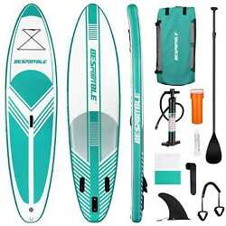 Sup Surfboard With Complete Kit 6'' Thick 10' Inflatable Stand Up Paddle Board