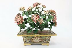 Chinese Cloisonne Planter W Flower