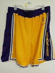 Los Angeles Lakers Authentic Vintage Nike Basketball Shorts Sizexl Rare Grail