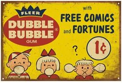 Tin Signs Retro Reproduction Bubble Gum Advert, Funny Vintage Decor For Home Bar