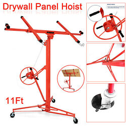 11ft Drywall Panel Lift Hoist Dry Wall Rolling Casterlifter Construction 150lb.