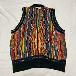 Vintage Coogi Cotton Knitted Vest Sweater Size Xl Made In Australia List No.2017