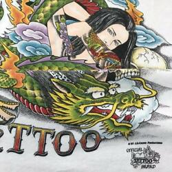 Vintage 90's J D Crowe Tattoo Tee T Shirt Size Xl Made In Usa Naked Lady Dragon