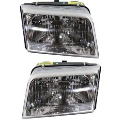 Headlight Set For 2009 2010 2011 Mercury Grand Marquis Left And Right Capa 2pc
