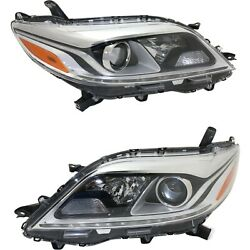 Headlight Set For 2015-2017 Toyota Sienna Limited Xle Models Left And Right 2pc