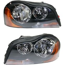 Headlight Set For 2003-2014 Volvo Xc90 Left And Right With Bulb Capa 2pc