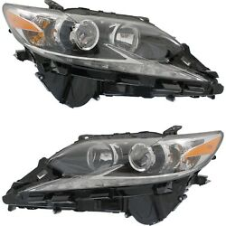 Headlight For 2016-2017 Lexus Es350 Pair Driver And Passenger Side