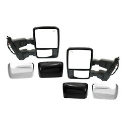 Tow Mirror Set For 2008 2010 Ford F250 Super Duty Left And Right Power Heat Signal