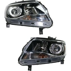 Headlight For 2015-2018 Chevrolet Colorado Pair Driver And Passenger Side Capa