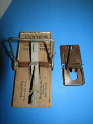 Antique Cookand039s Wooden Rat Trap Plus Metal Mouse Trap Newhouse