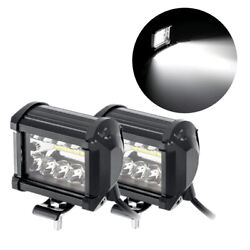 1pair 120w 4 Cube Led Work Light Offroad Fog Driving Drl For Suv Atv Truck