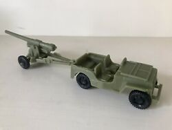 Marx Battleground Jeep With Cannon - Olive Drab - Very Good Item - Must See This