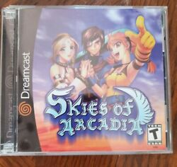 Skies Of Arcadia Sega Dreamcast 2000 Complete With Manual Tested Works Cib