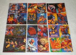 1994-1995 Uncut Marvel 4-card Promo Panels Masterpieces/metal/flair Lot Of 6