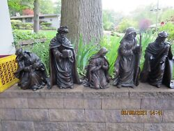 Large Outdoor Nativity Set-5 Pcs.-17-26--pick Up Only----r11a