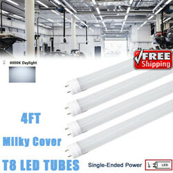 4ft 6000k T8 Led Shop Tube 48 Inch G13 Bi Pin Single End Powered Frosted Cover