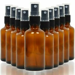 10 Pack Empty Amber Glass Spray Bottles Storage Container 4 Oz For Essential Oil