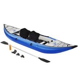 Inflatable Kayak Set Fishing Rowing Boat Raft Canoe With Paddle And Air Pump