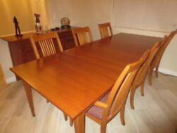 Ethan Allen New Impressions Autumn Cherry Dining Table With Chairs