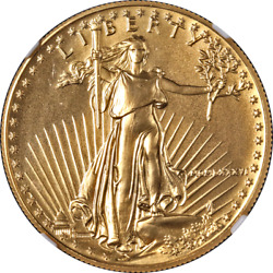 1986 Gold American Eagle 50 Ngc Ms69 First Year Of Issue Label