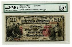 1875 20 National Currency The Winters National Bank Dayton Ohio Fr. 435 Pmg15
