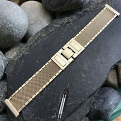 Rare 1960s Hamilton Electric K-475 Gold-filled Mesh Nos Vintage Watch Band 19mm