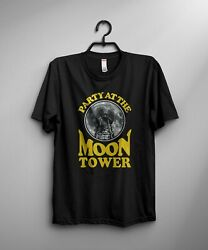 Party At The Moon Tower Mens T-shirt Dazed Funny Stoner Movie 90s Confused