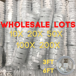 Wholesale Lot Usb Data Sync Charger Cord Cable 3ft 6ft For Iphone Xr 11 8 7 Plus