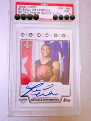 Russell Westbrook Autograph Topps Basketball Card Thunder English Psa9 Mt Rookie