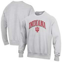 Indiana Hoosiers Champion Arch Over Logo Reverse Weave Pullover Sweatshirt -
