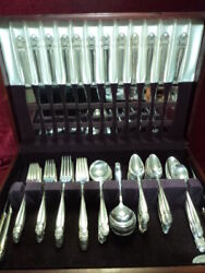 Danish Princess Silverplate 103 Pc Dinner Set And Chest Holmes And Edwards Flatware